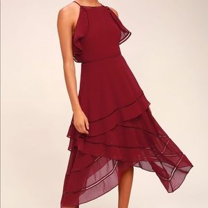 Keepsake the Label Lovers Holiday Dress - Plum NWT